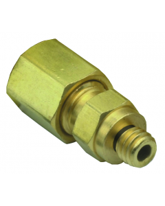 "#10-32 to 1/16"" O.D. Tube Compression Fitting"