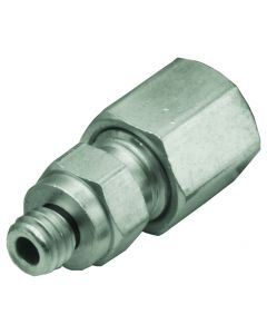 "#10-32 to 1/16"" O.D. Tube Compression Fitting, ENP, Pack of 10"