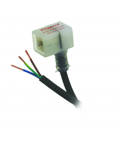 DIN Terminal w/LED, Industrial Form, 48-110 Volts, 6' Cord