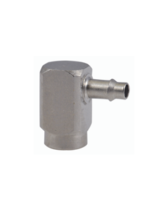 """#10-32 Female to Barb Connector, 3/32"""" Barb, Pack of 5"""