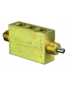 """4-Way Double Plunger Valve, Fully-Ported, 1/8"""" NPT"""
