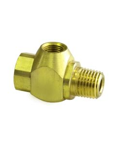 "J-Series Shuttle Valve, 1/8"" Female Out, 1/8"" Female In, 1/4"" Male In"