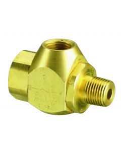 "J-Series Shuttle Valve, 1/4"" Female Out, (2) 1/8"" Female Ins"