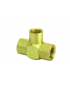 "J-Series Shuttle Valve, 1/4"" Female Out, (2) 1/4"" Female Ins"
