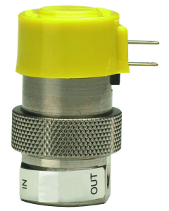 2-Way Elec Valve, Norm-Closed, Mfld Mnt, Low Pres/Med Flow, 24 VDC, Metric