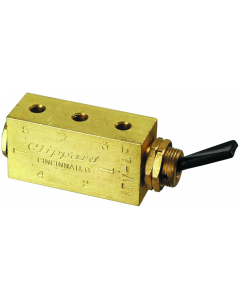 4-Way Toggle Valve, Plastic Toggle, #10-32