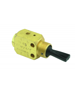 3-Position, 4-Way Valve, ENP Steel Toggle, #10-32