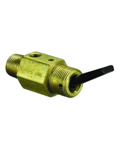 """2-Way Toggle Valve, N-O, Momentary Closed, Plastic Toggle, 1/8"""" NPT Male In"""