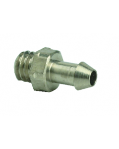 """#3-56 to 1/16"""" ID Hose Fitting, ENP Brass"""