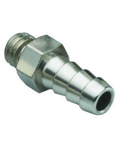 """#10-32 to 1/8"""" ID Hose Fitting, ENP Brass"""