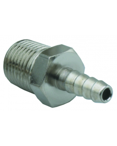 """1/8"""" Pipe to 1/8"""" Hose Fitting, ENP Brass"""
