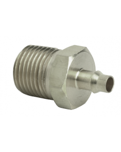"""1/8"""" NPT to 1/8"""" ID Hose Fitting, ENP Brass"""