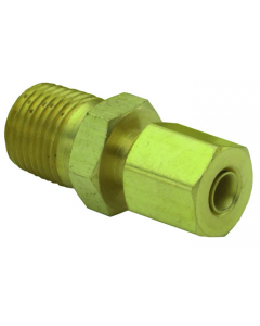 """1/8"""" NPT to 1/8"""" Tube Connector, Pack of 10"""