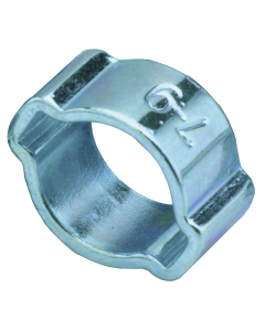 Quick Set Hose Clamp, Large Crimp-On Type, Pack of 10
