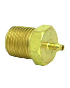 """1/2"""" NPT to 1/16"""" ID Hose Fitting, Pack of 1"""