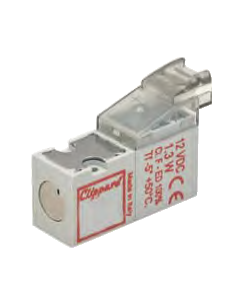 10 mm ISO Valve, In-Line Connector, 12 VDC