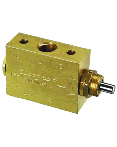 """3-Way Spool Plunger Actuated Spring Return Valve, 1/8"""" NPT"""