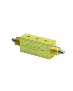 4-Way Double Plunger Valve, Fully-Ported, #10-32