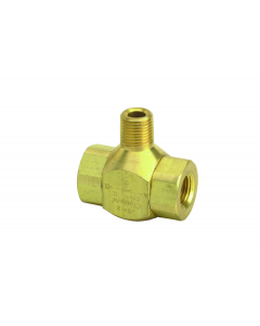 """J-Series Shuttle Valve, 1/8"""" Male Out, (2) 1/8"""" Female Ins"""