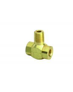 """J-Series Shuttle Valve, 1/4"""" Male Out, (2) 1/8"""" Female Ins"""