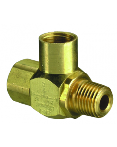 """J-Series Shuttle Valve, 1/4"""" Female Out, 1/4"""" Male In, 1/4"""" Female In"""