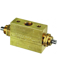 3-Way Spool Double Plunger 2 Position Valve, G1/8