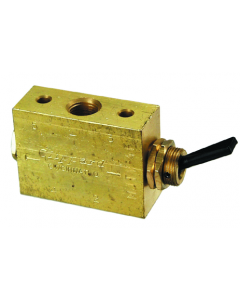 4-Way 2-Position Valve, Plastic Toggle, G1/8