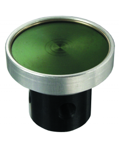 3-Way Low Force Actuation Push Button, Black (Green shown)