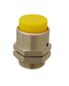 16 mm Extended Captivated Push Button, Black (Yellow shown)