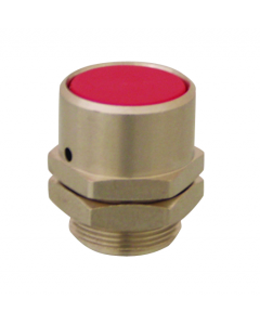 16 mm Flush Captivated Push Button, Grey (Red shown)