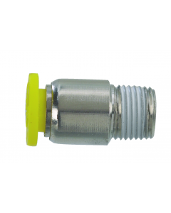 """Push-Quick Male Compact Connector, 1/4"""", 1/8"""" NPT"""