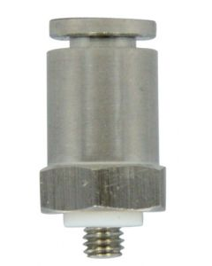 "S/S Mini. Push-Quick Fitting, Female Connector, 1/4"", #10-32"