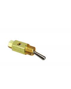 2-Way Toggle Valve, N-C, Momentary Open, ENP Steel Toggle, #10-32