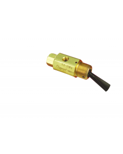 2-Way Toggle Valve, N-C, Momentary Open Toggle, Plastic Toggle, #10-32