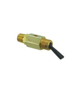 "2-Way Toggle Valve, N-C, Momentary Open Plastic Toggle, 1/8"" NPT Male"