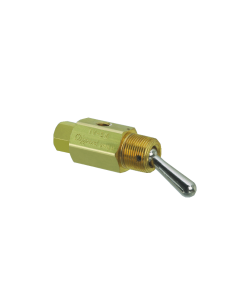 3-Way Toggle Valve, N-C, Momentary Open Toggle, ENP Steel Toggle, #10-32